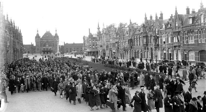 Met de Koninklijke harmonie van Goulmy in 1930