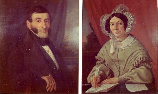 Michel Jean Baptiste met Philippina Cecile Verbeke, zijn tweede echtgenote