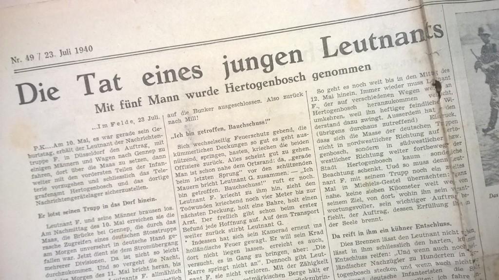 Vijf Duitsers die de stad 's-Hertogenbosch innemen